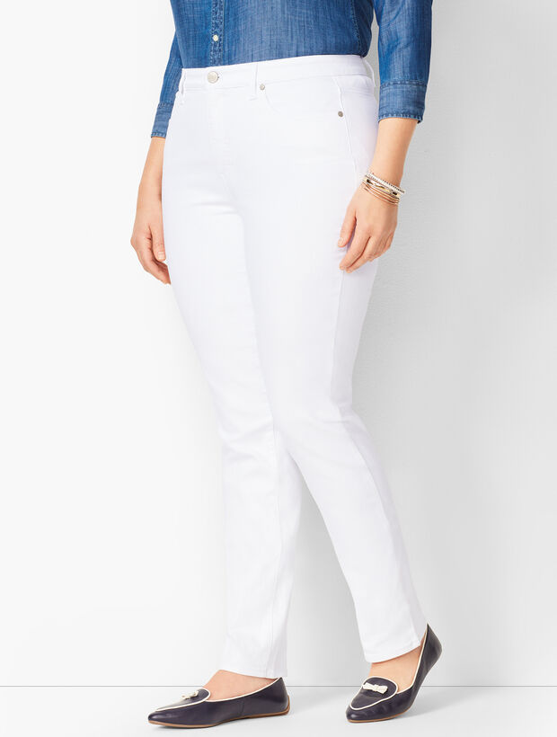 Plus Size High-Waist Straight-Leg Jeans