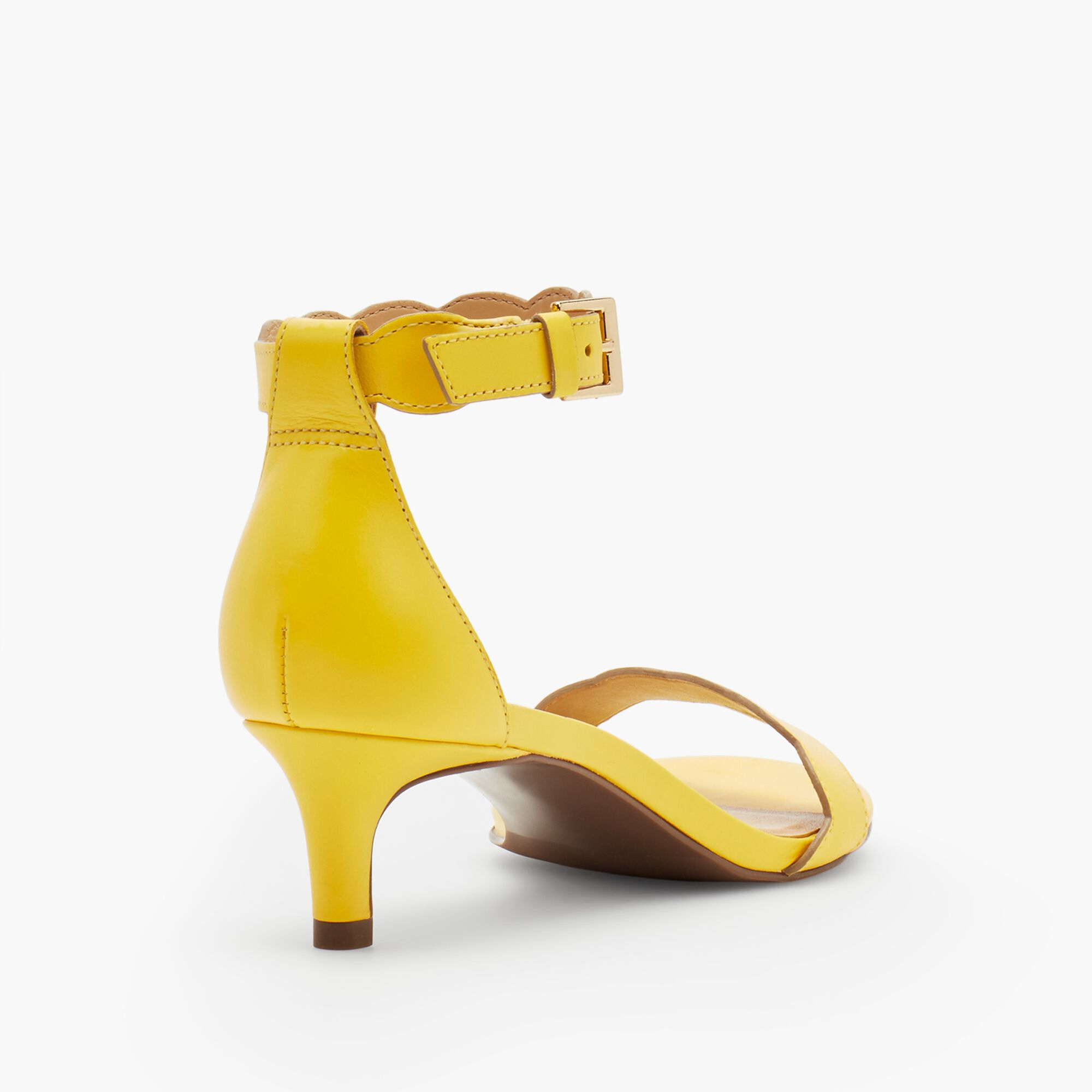 c7c511b1d Pila Kitten-Heel Sandals - Vachetta Leather Opens a New Window.