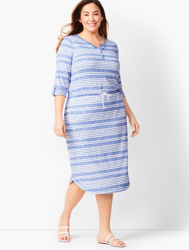 Stripe Henley Dress