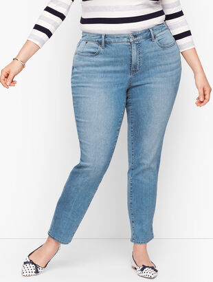 Plus Size Exclusive Slim Ankle Jeans -Curvy Fit - Wythe Wash