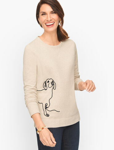 Crewneck Sweatshirt - Embroidered Dog