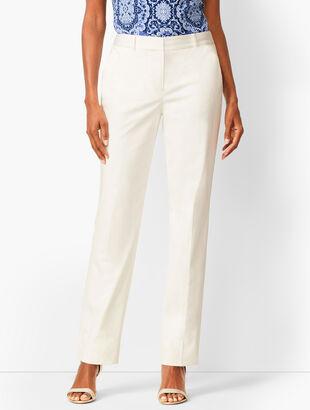 Monterey Cotton Straight-Leg Pants - White