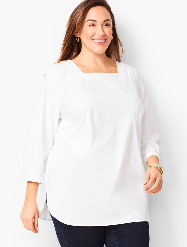 Square-Neck Poplin Tunic