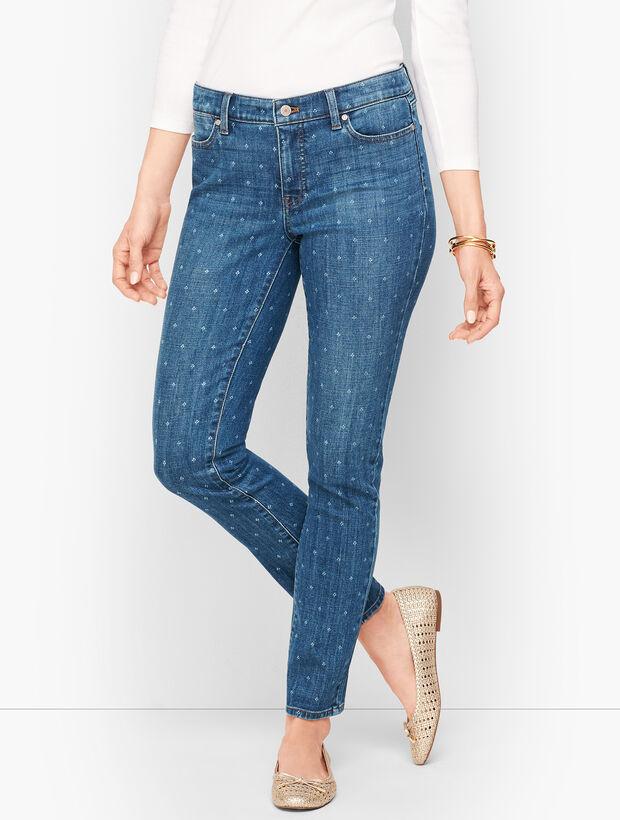 Slim Ankle Jeans - Tulip Print