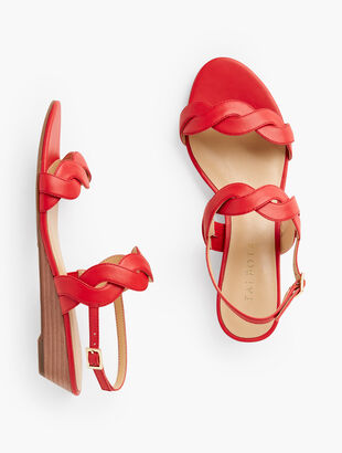 Capri Twist Mini Wedge Sandals - Nappa Leather