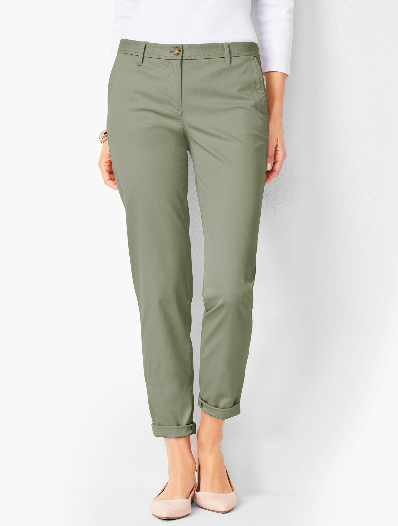 Women's Clothing Talbots Womens Size 6 Chino Khaki Pants Cotton Blend New