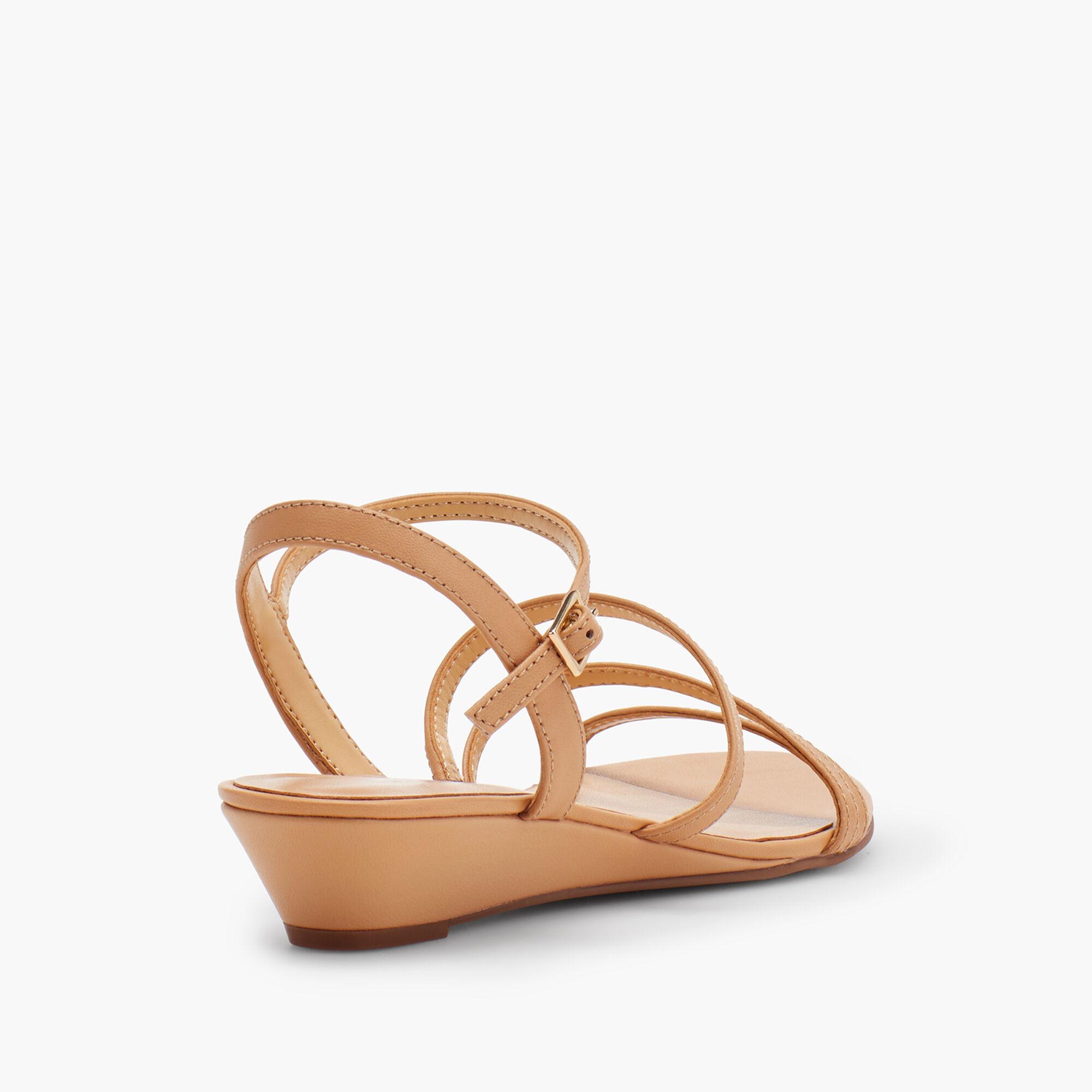 095170e94ca Capri Multi-Strap Mini-Wedge Sandals - Nappa Leather
