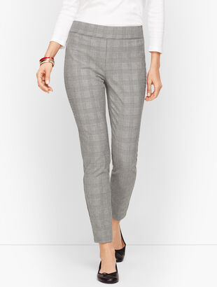 Talbots Essex Ankle Pant - Glen Plaid