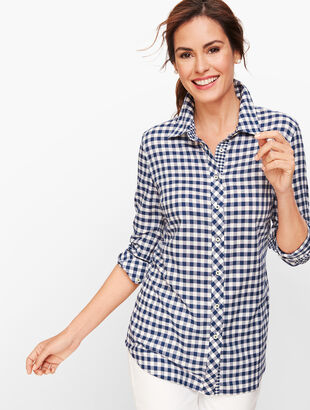 Classic Cotton Shirt - Indigo Blue Gingham