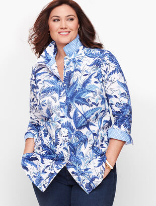 Classic Cotton Shirt - Breezy Ferns