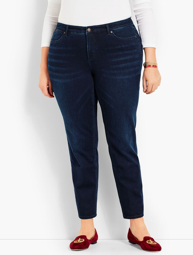 Plus Size Exclusive Comfort Stretch Denim Slim Ankle Jeans - Empire Blue Wash