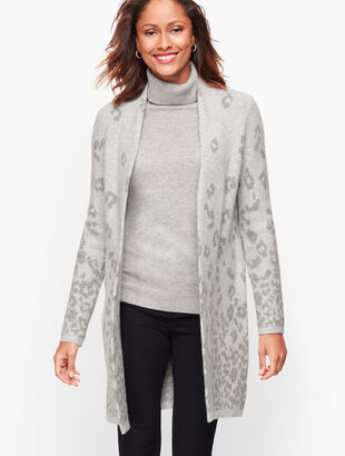 Ombre Animal Print Flyaway Cardigan