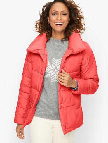 Short Down Alternative Puffer Coat