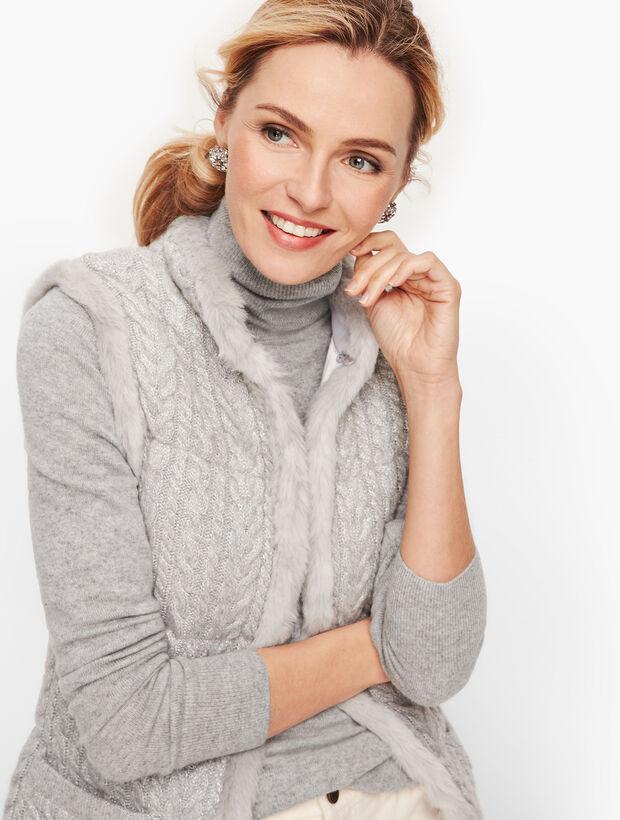 CableKnit Sweater Vest - Lurex®