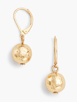 Hammered Sphere Earrings