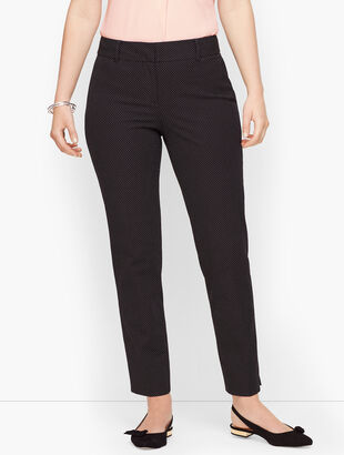 Talbots Hampshire Ankle Pant - Curvy Fit - Teeny Dot