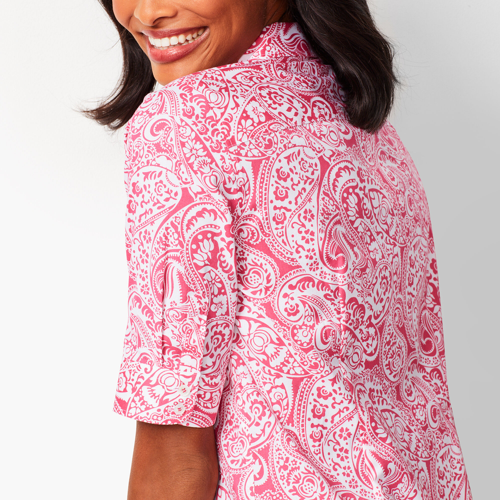 2fdc93b33 Perfect Shirt - Elbow-Length Sleeves - Paisley