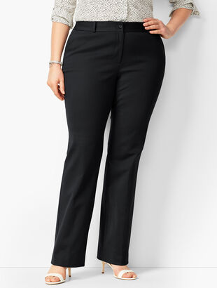 Cotton Double-Weave Barely Boot Pants