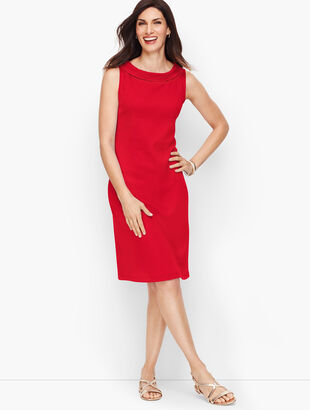 Audrey Knit Shift Dress - Solid