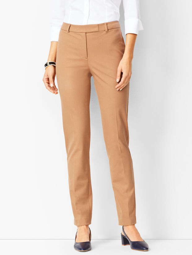 Bi-Stretch High-Waist Straight-Leg Pant - Solid