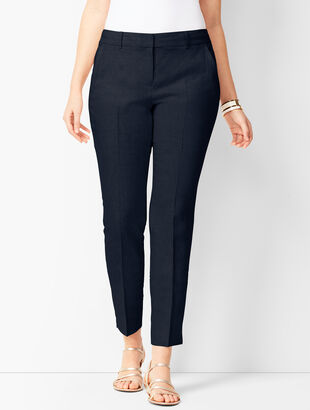 Linen Slim Ankle Pants - Curvy Fit
