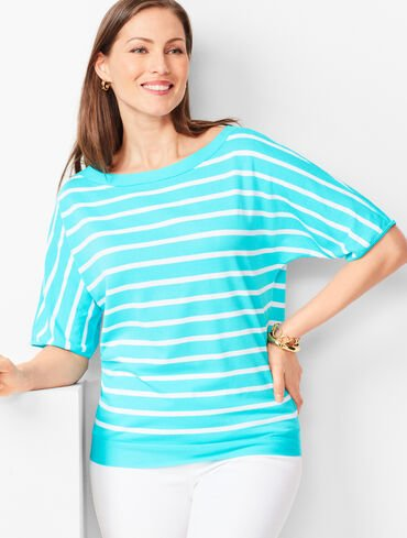 Dolman-Sleeve Sweater - Stripe