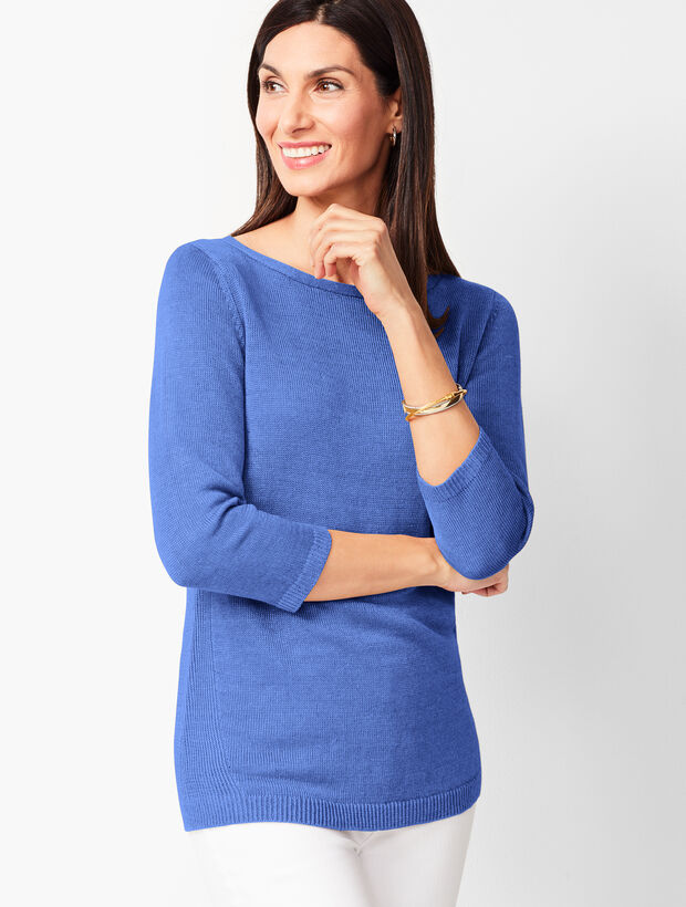 Linen Bateau-Neck Sweater