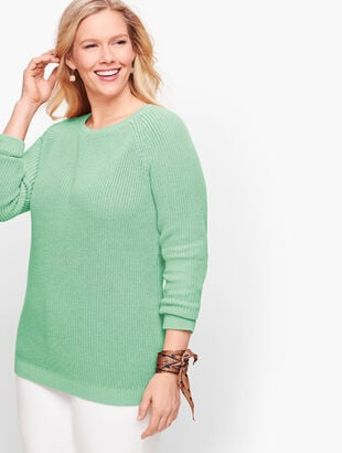 Pima Cotton Shaker Stitch Sweater