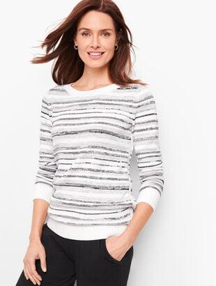 Mixed Yarn Stripe Sweater
