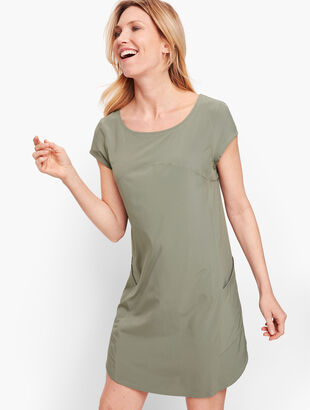 Lightweight Stretch Woven Dress
