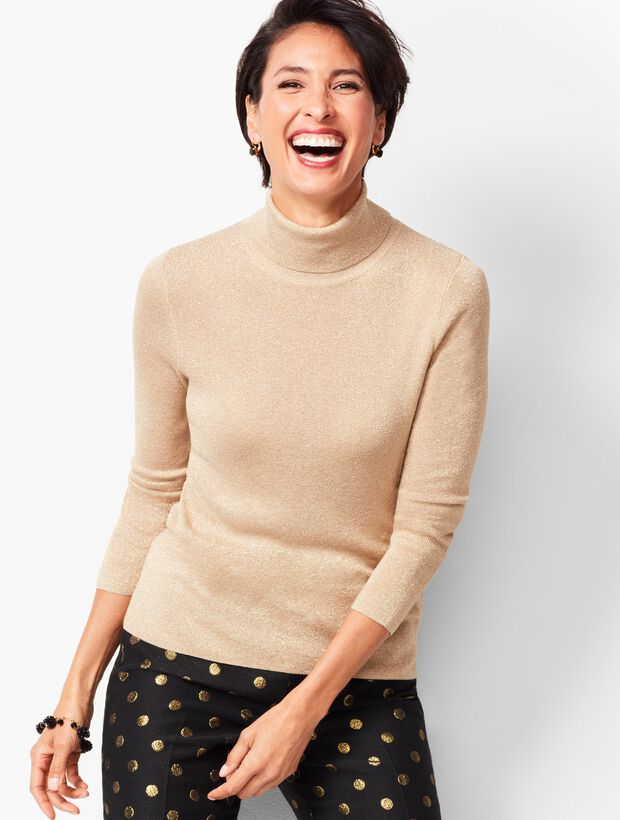 Sparkle Turtleneck Sweater