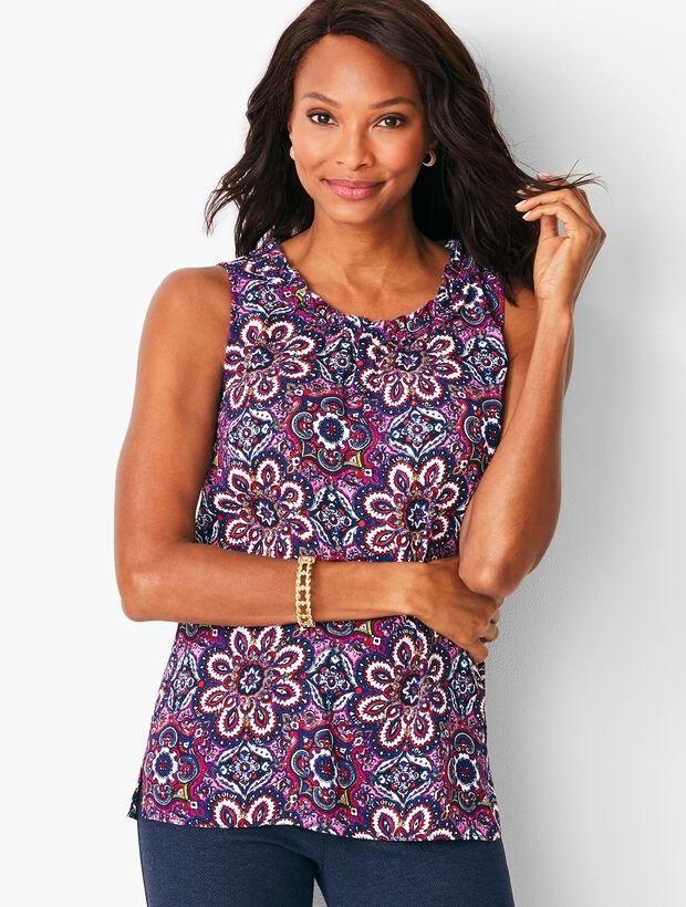 Ruched Shell - Paisley