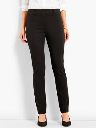 Bi-Stretch High-Waist Straight-Leg Pant