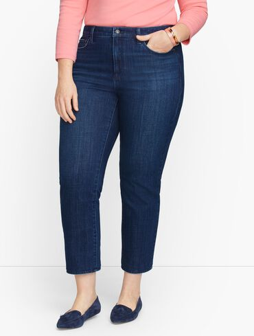 Plus Size Exclusive Modern Ankle Jeans - Curvy Fit - Ocean Wash