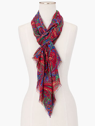 Radiant Paisley Oblong Scarf