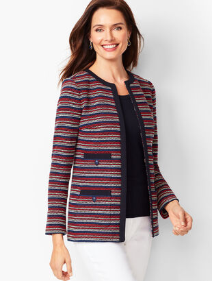 Bouclé Stripe Jacket