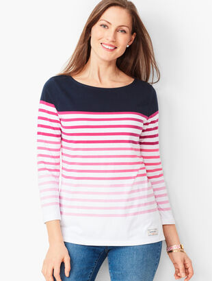 2933d9430a9927 Authentic Talbots Tee - Gradient Stripe