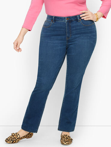 Plus Size Exclusive Straight Leg Jeans - Solstice Wash - Curvy Fit