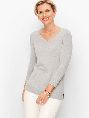 Double V Tie Back Sweater - Shimmer