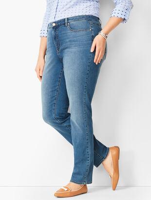High-Waist Straight-Leg Jeans - Aurora Wash