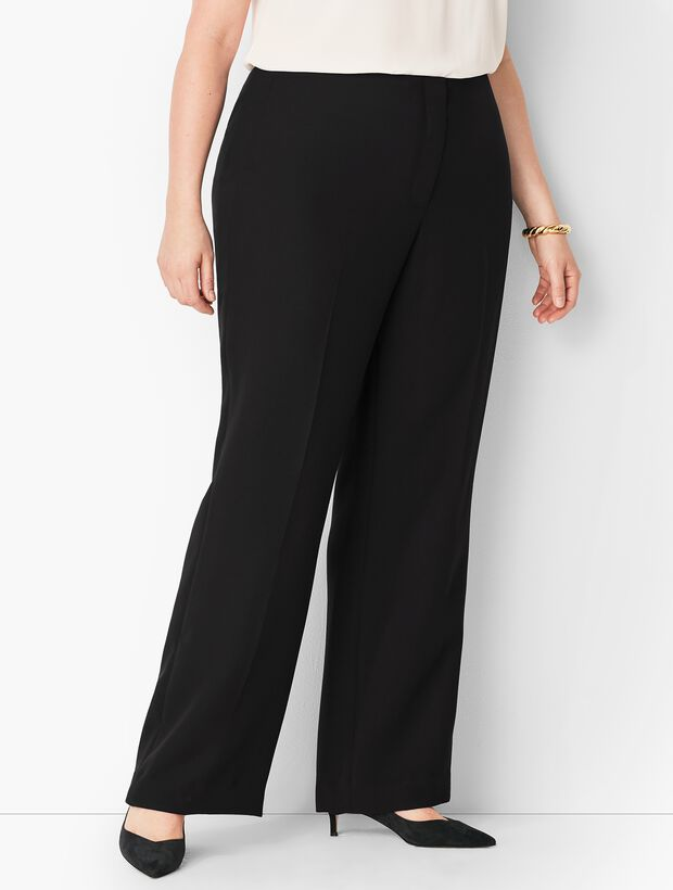 Plus Size Seasonless Crepe Wide-Leg Pants - Curvy Fit