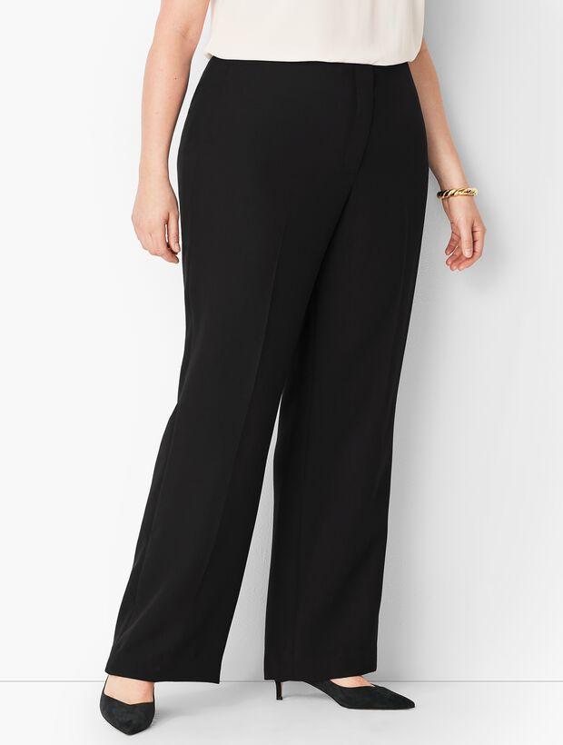 Plus Size Seasonless Crepe Wide-Leg Pants - Curvy Fit
