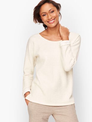 Twist Back Dolman Sleeve Pullover