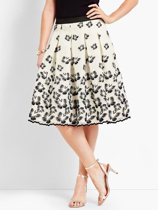 Organza Pleated Skirt