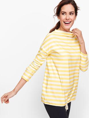 Mockneck Stripe Pullover