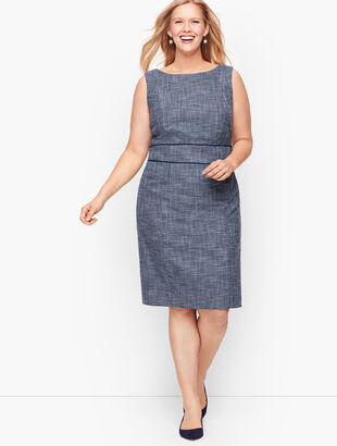 Lightweight Tweed Sheath Dress