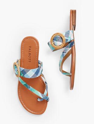 Gia Rattan Buckle Sandals - Madras