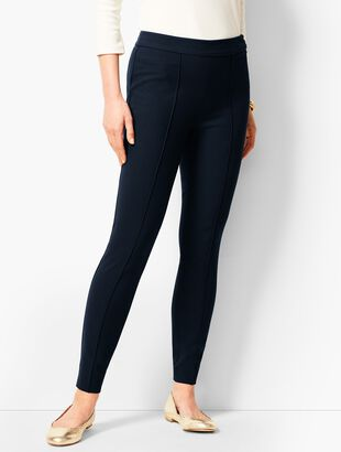 Bi-Stretch High-Waist Straight Leg Pants