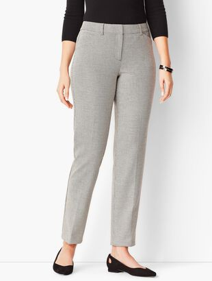 Talbots Hampshire Ankle Pants - Curvy Fit/Liberty Dobby