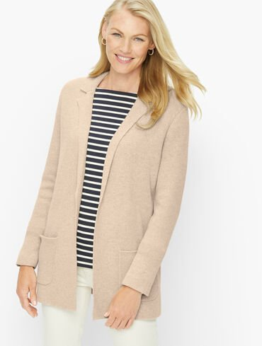 Notch Collar Sweater Blazer